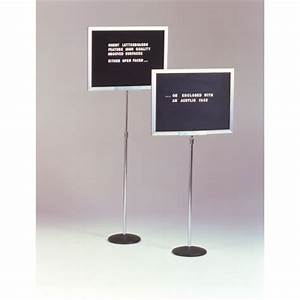 height adjustable letter board with single pedestal With pedestal letter board