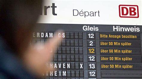 15 hours ago · die lokführer haben einen streik angekündigt und treffen die bahn damit mitten in der krise. Streik Deutsche Bahn: Wo Verspätungen und Ausfälle drohen ...
