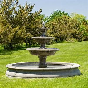 Exterior top 16 contemporary outdoor water fountains for Garden fountain