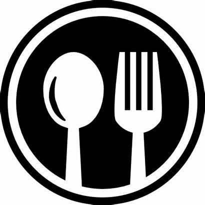 Fork Eat Symbol Spoon Circle Icon Restaurant
