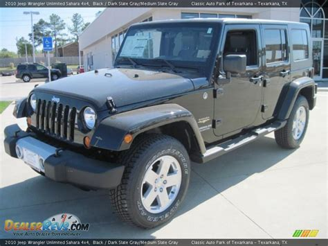 jeep dark gray 2010 jeep wrangler unlimited sahara 4x4 black dark slate