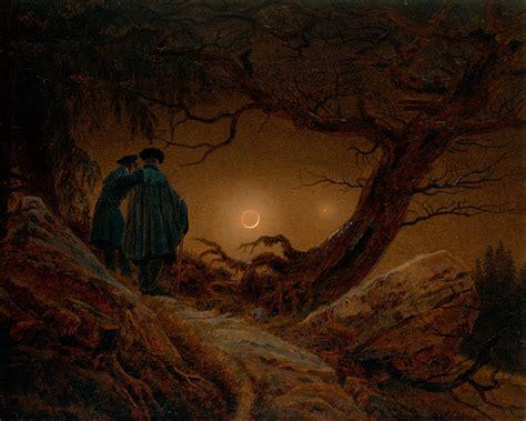 caspar david friedrich kunstwerk two contemplating the moon