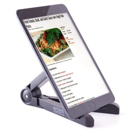 epare adjustable tablet stand  cookbook recipe book