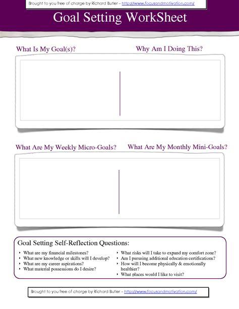Goal Setting Template Worksheets Career Goal Setting Worksheet Waytoohuman