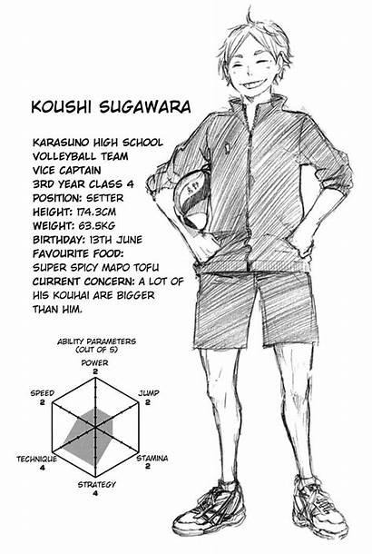 Haikyuu Sugawara Character Manga Koushi Anime Profiles