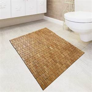 Bamboo shower mat elegant and easier to clean the homy for How to clean bathroom mats