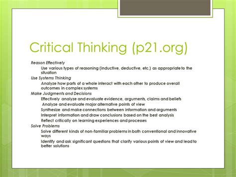 Critical Thinking Tools Of Transformation