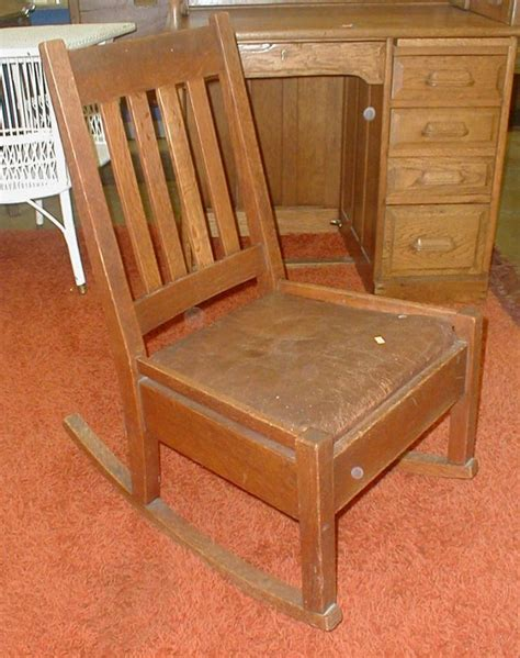 stickley bros co mission oak quaint furniture small rocker