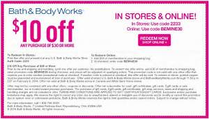 Bath and Body Works Printable Coupons June 2016