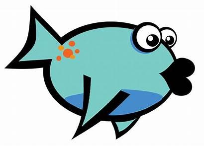 Fish Cartoon Clip Clipart Lips Fishing Goldfish