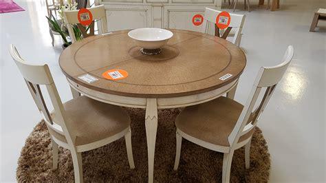 table ronde de 130 pieds directoire avec allonge