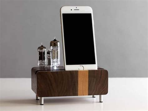 handmade smartphone charging station  triple