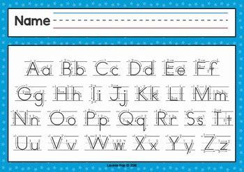 cursive alphabet chart  directional arrows