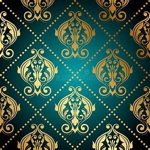 Papier Peint Fleuri : papier peint fleuri de turquoise et d 39 or images libres de ~ Premium-room.com Idées de Décoration