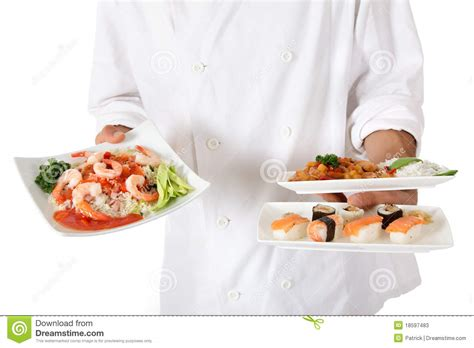 chef cuisine pic nepalese chef food plate stock photos