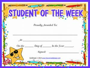 download sample printable certificate templates for free With student of the week certificate template