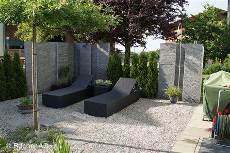 Gräser Garten Sichtschutz by Stelen Stein Granit Sichtschutz Bildergalerie Bucher Ag