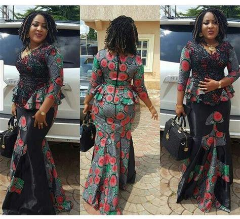 wonderful skirt and blouse ankara styles for beautiful fashion blouse styles