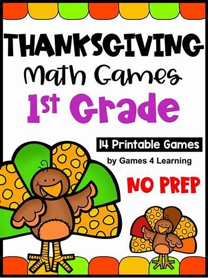 Math Thanksgiving Grade Games Prep Pumpkins Turkeys