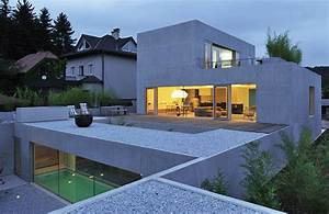 Modern, House, Design, With, Rooftop, Terrace, In, Slovenia, By
