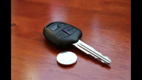 Mitsubishi Lancer Key by Mitsubishi Remote Key Battery Replacement