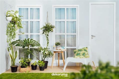 menyegarkan  item dekorasi  bikin teras minimalis