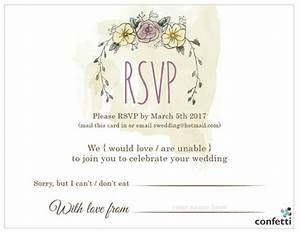 8 things to include in your wedding invitations confetti With wedding invitation wording dietary requirements