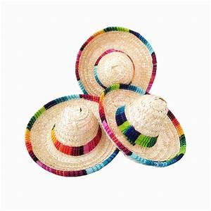 6pcs/lot natural straw mini sombrero/new design mini