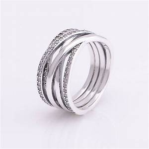 new entwined rings pave zircon original 925 sterling With entwined wedding rings
