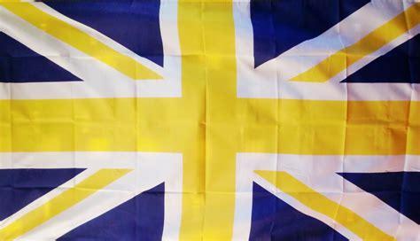 union jack blue yellow    flag