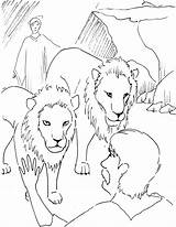 Daniel Den Lions Coloring Pages Lion Bible Popular Library Getdrawings sketch template