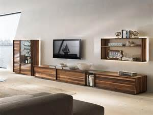 Recessed Media Cabinet by Long Media Console Plays Significant Role With Fashion