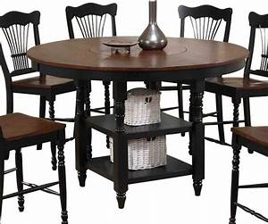 canterbury harvest counter height table with lazy susan With counter height harvest table