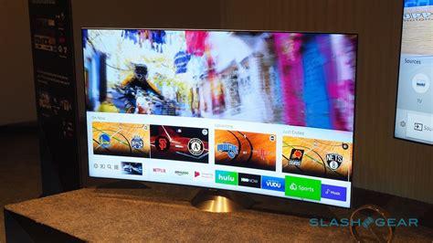 Tv Qled Samsung Samsung S Qled Tvs Wow With Quantum Dot 4k And Easy Mounts Slashgear