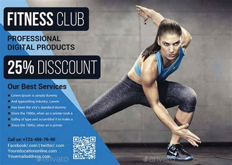 fitness flyer designs eps word psd ai design