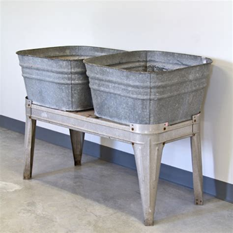 galvanized wash tub sink antique galvanized wash tubs vintage galvanized double