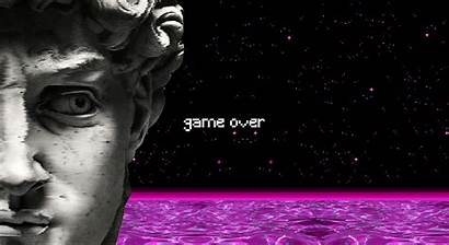 Vaporwave Statue Pixel Water David Spaceship Computer
