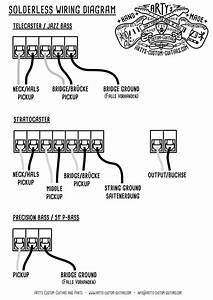 Solderless Wiring Diagram Prewired Kit For Fender Arty U0026 39 S Custom Guitars