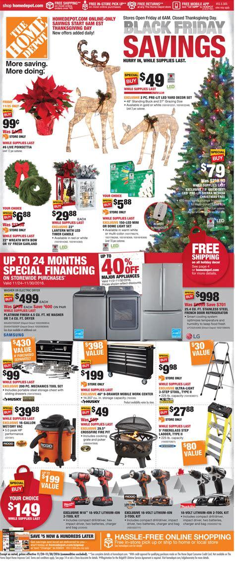black friday christmas tree sales home depot home depot black friday ad 2016