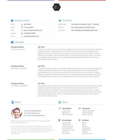 Cv Onl by 28 Free Cv Resume Templates Html Psd Indesign