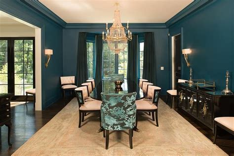 Peacock Blue Dining Room Features Walls Painted Peacock Large Outdoor Lighting Lighted Angel Are Solar Lights Any Good Galvanized Light Stake Energy Efficient Flood Bulbs Outside Wall Evo36 Security