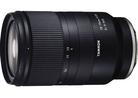 tamron announces workhorse 28 75mm f 2 8 frame for sony e mount 4k shooters