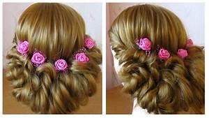 Coiffure Mariage Facile Cheveux Mi Long : coiffure soir e mariage pour les f tes facile faire soi m me cheveux long mi long youtube ~ Nature-et-papiers.com Idées de Décoration