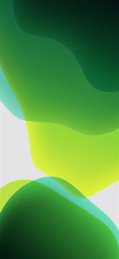 Xs Max Ios 13 Wallpaper Hd by Ios 13 Official Stock Wallpaper Ultra Hd Green Light