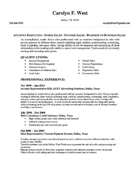 Sample Senior Account Executive Resume Free Samples