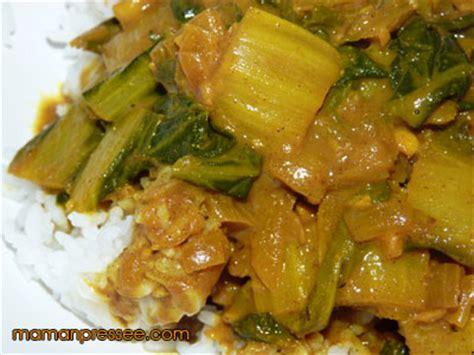cuisiner les cotes de blettes recette de côtes de blettes aux épices maman