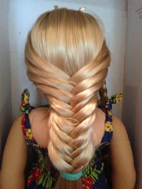 fishtail braid are perfect and easy to do on american girl