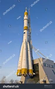 Russian Space Shuttle. Nozzles Space Rocket Soyuz. Close ...