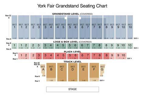 york fair grandstand seating chart sendil   mn ideas  maat orderorg