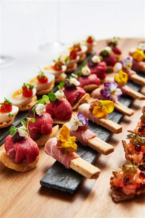 images of canapes recipes from bafta 195 piccadilly chef anton manganaro